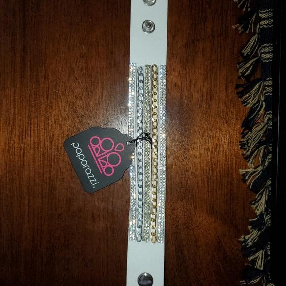 Blingy whute wrap bracelet